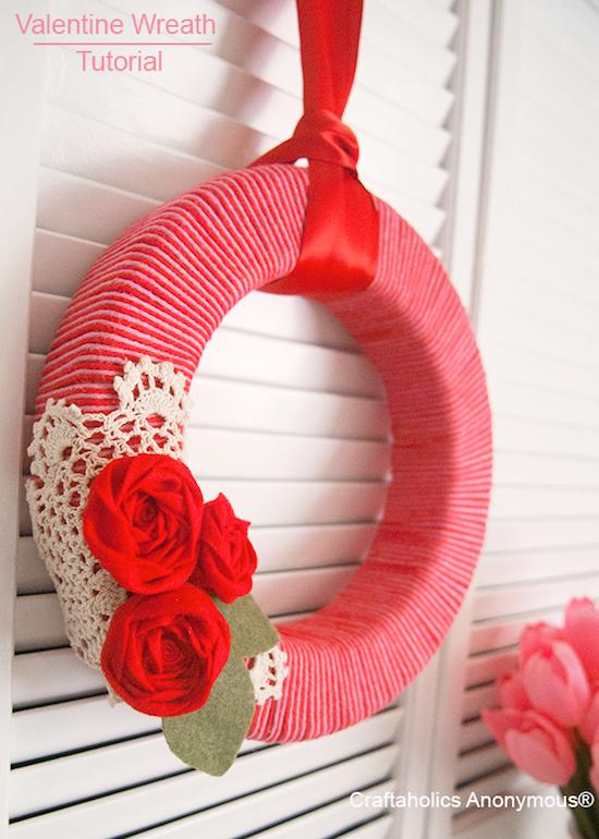 Simple Valentine's Wreath Tutorial