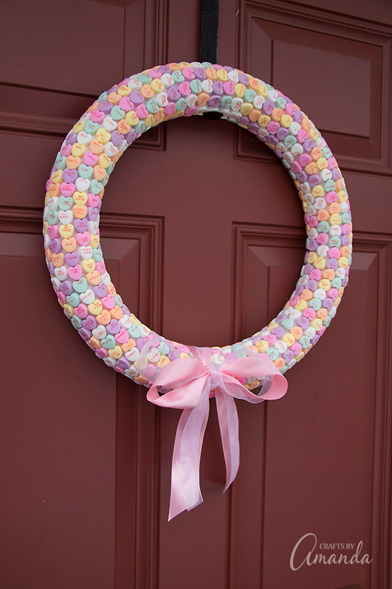 Conversation Hearts Wreath