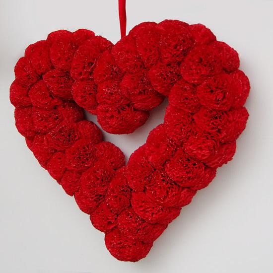 Paper Flower Heart Wreath