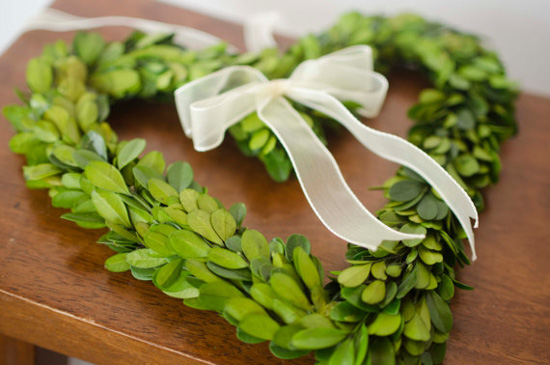 Preserved Boxwood Heart Wreath