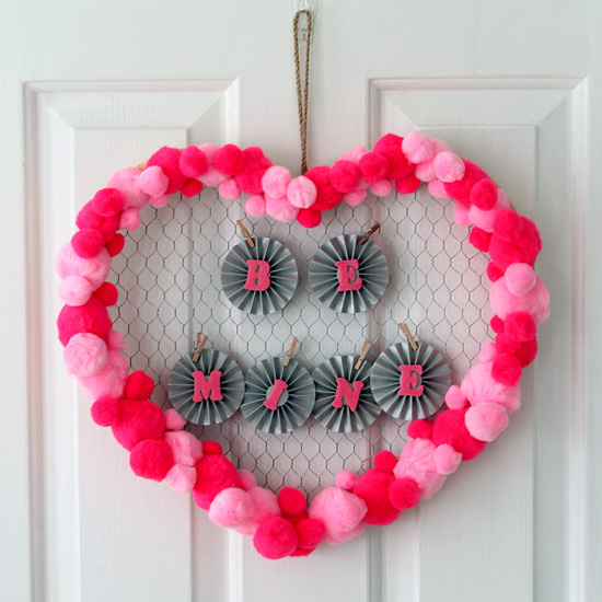 Be Mine Valentine's Day Wreath