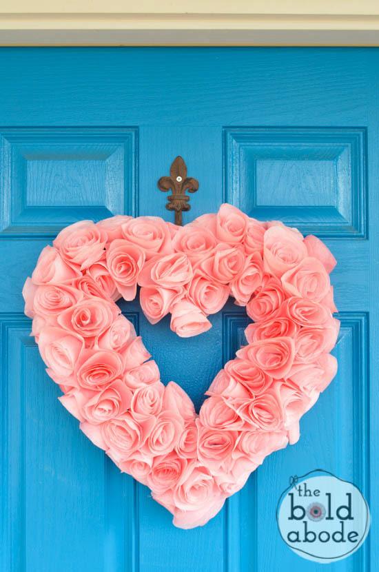 Heart Shaped Coffee Filter Wreath