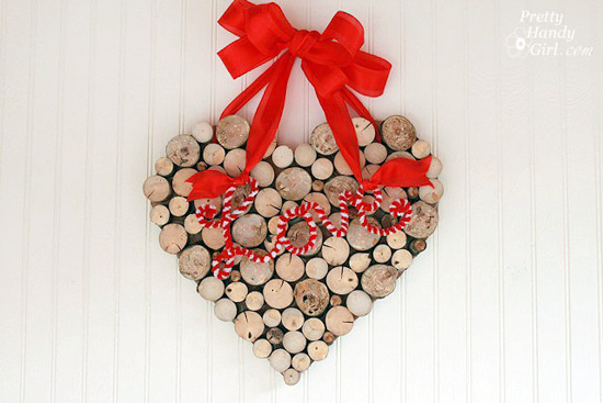 Tree branch heart wreath