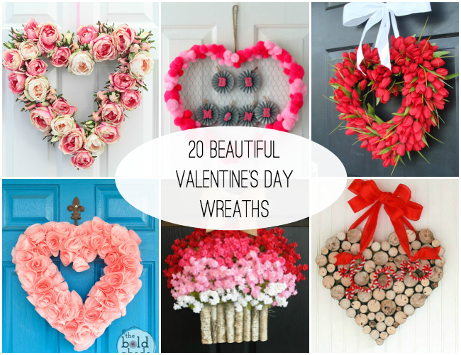 20 Beautiful Valentine's Day Wreaths