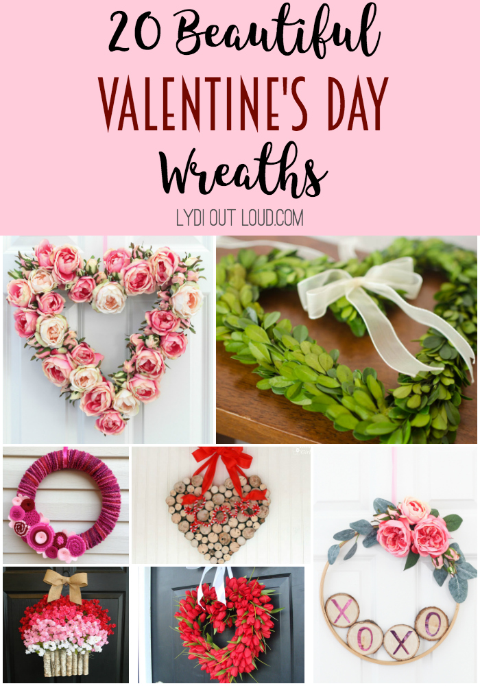 20 Beautiful Valentine's Day Wreaths - buy and DIY options! #ValentinesDaydecor #Valentinesdaycrafts #homedecor