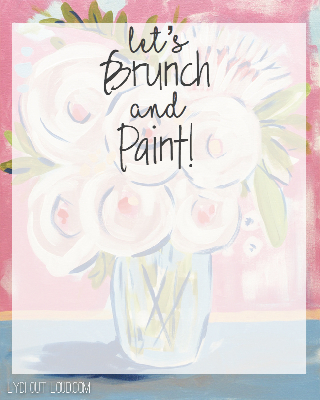 brunch and painting party invitation lydi out loud
