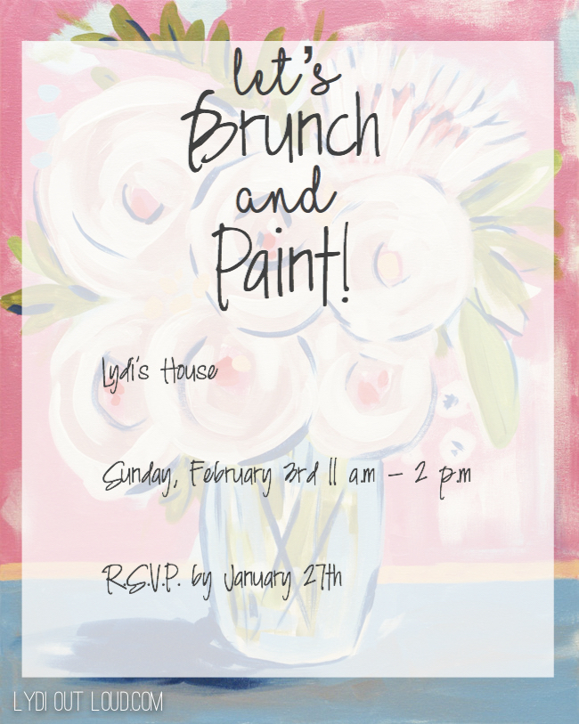 Brunch and painting party invitation