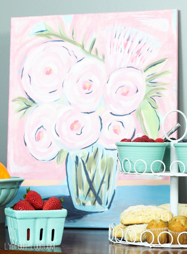Abstract Peonies Social Artworking
