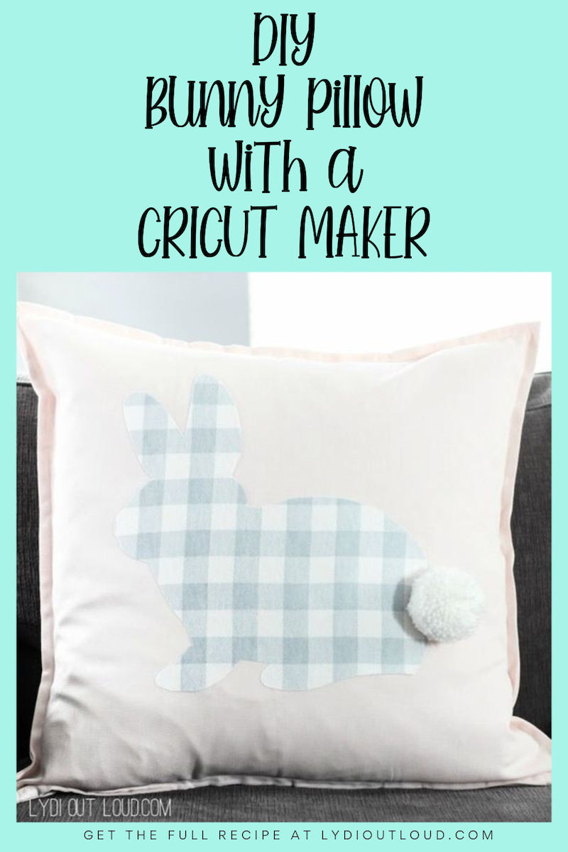 Buffalo Check No-sew Rabbit Pillow #buffalocheck #nosew #easter via @lydioutloud