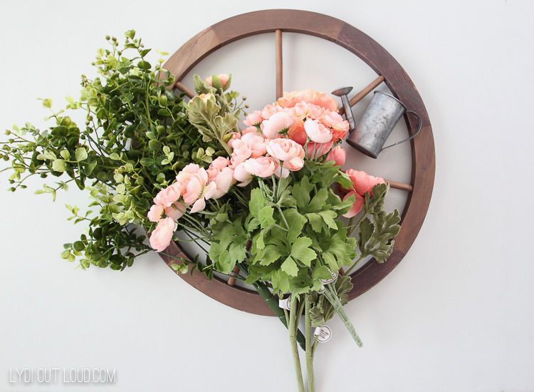 Farmhouse Wheel Wreath Supplies