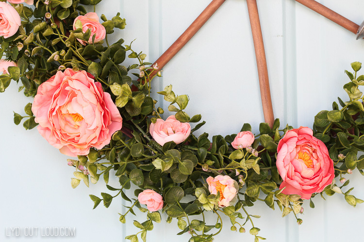 Farmhouse Eucalyptus Ranunculus Wagon Wheel Wreath