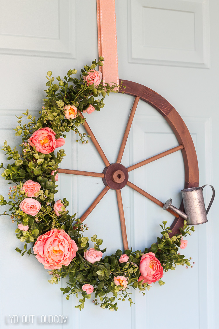 Wagon Wheel Farmhouse Style Wreath Tutorial Lydi Out Loud