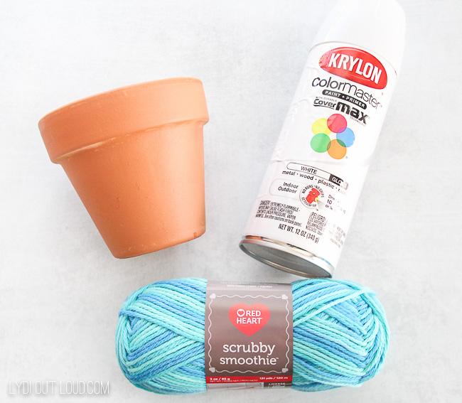 Macrame Clay Pot supplies