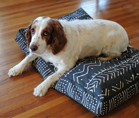 Mudcloth Dog Bed