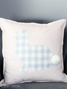 No-sew Buffalo Check Rabbit Pillow