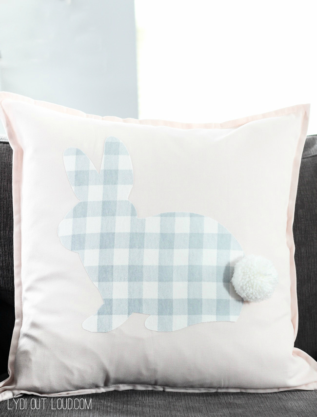 No-sew Buffalo Check Rabbit Pillow