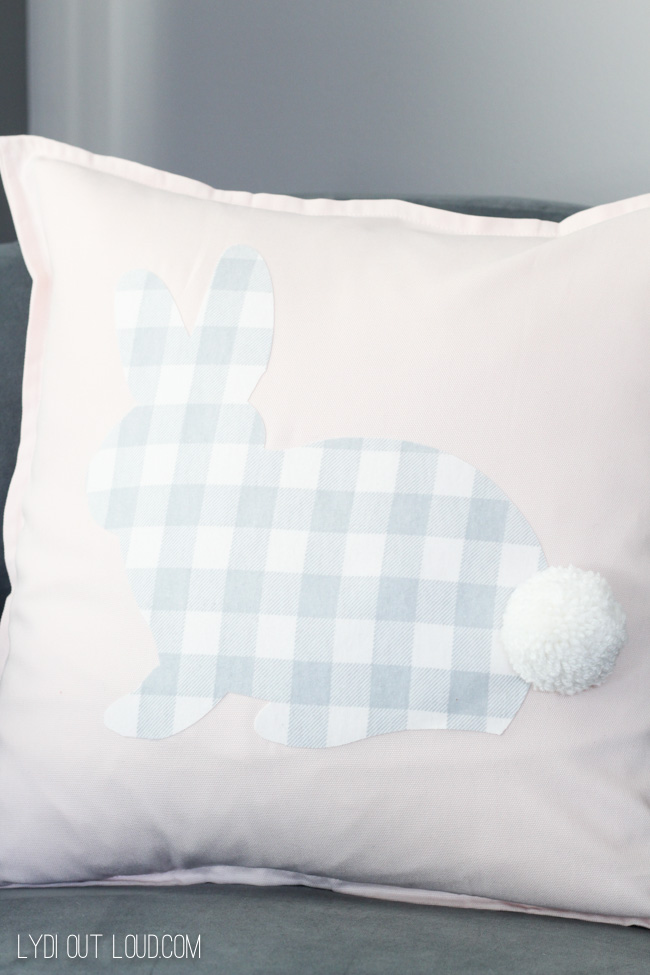 Buffalo Check No-Sew Easter Rabbit Pillow