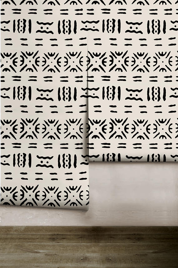 Mud Cloth Wallpaper
