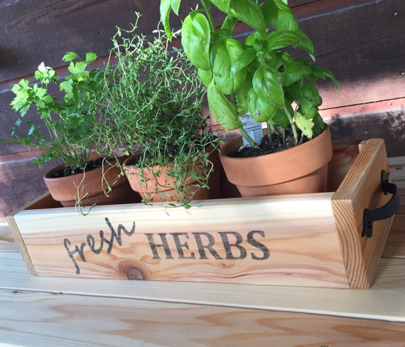 Cedar Drawer Wood Planter Herb Garden