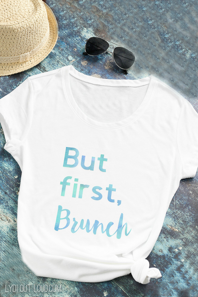 But First, Brunch T-shirt with Cricut Patterned Iron On