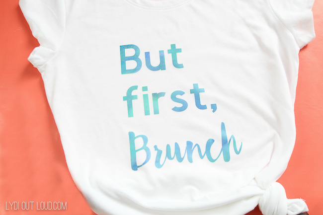 Fun DIY T-shirt with the Cricut Maker and Patterned Iron On
