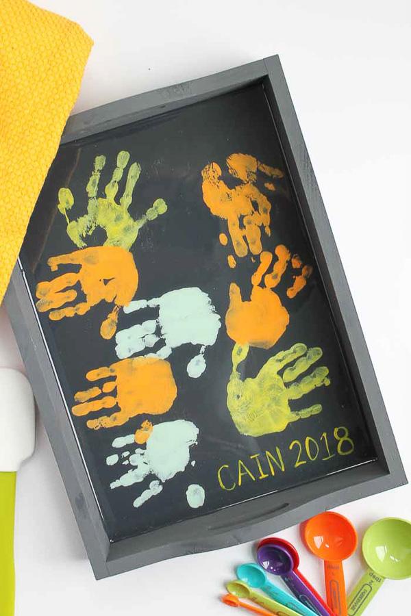 Keepsake Hand Print Tray