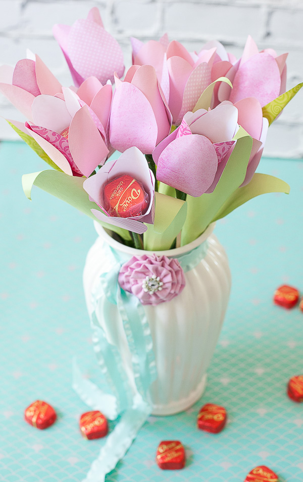 Paper Tulip Chocolates Bouquet