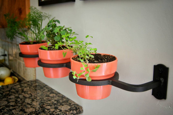 Indoor/Outdoor Wrought Iron Herb Garden