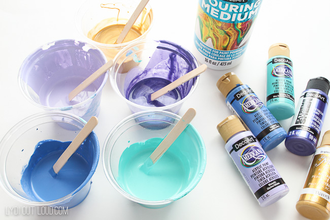 Paint Pouring with Acrylic Paints