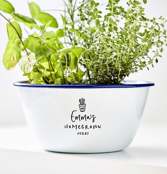 Personalized Herb Planter