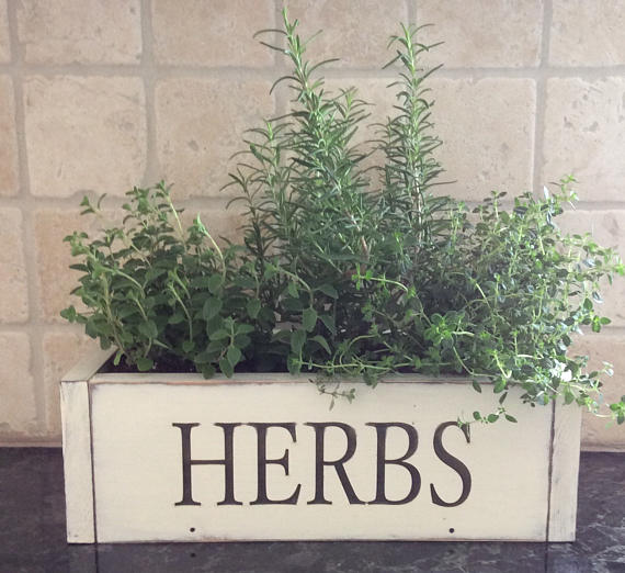 Rustic Wooden Herb Box