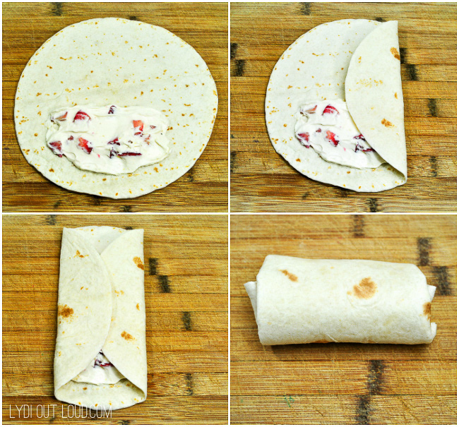 How to make Strawberry Cheesecake Chimichangas