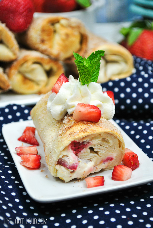 Delicious Strawberry Cheesecake Chimichanga!