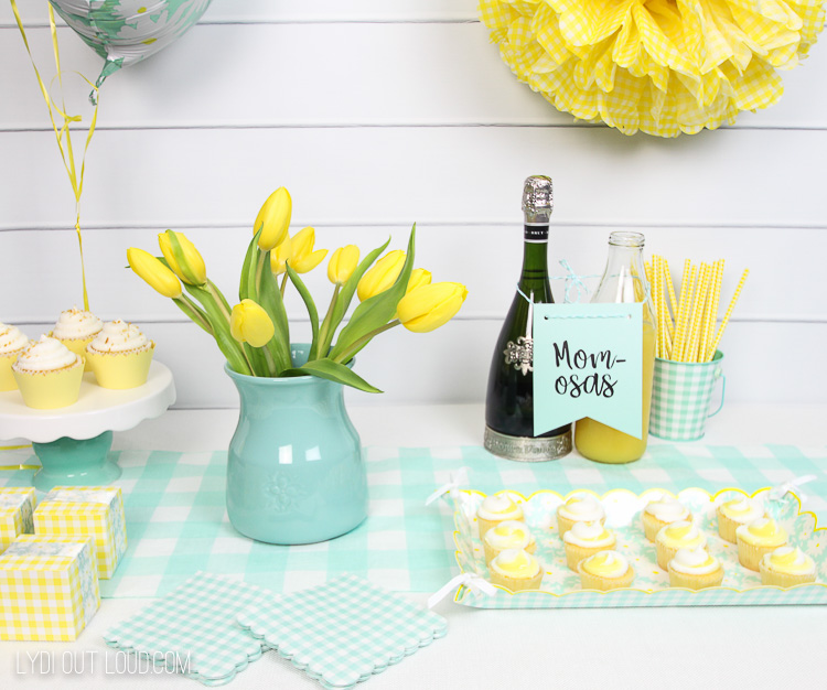 Mint and Yellow Gender Neutral Baby Shower Decorations
