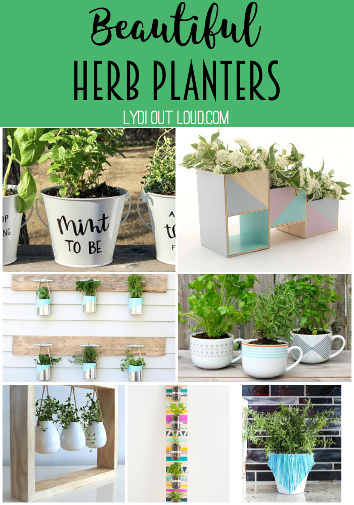 Stunning herb planters to DIY or buy! via @lydioutloud