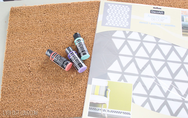 Painted doormat supplies