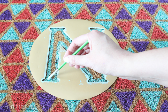 DIY Monogramed Welcome Mat