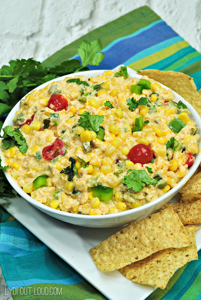 Hot or Cold Spicy Corn Dip