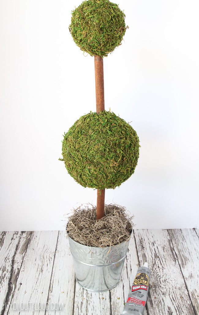 Diy Moss Topiary Tutorial Lydi Out Loud