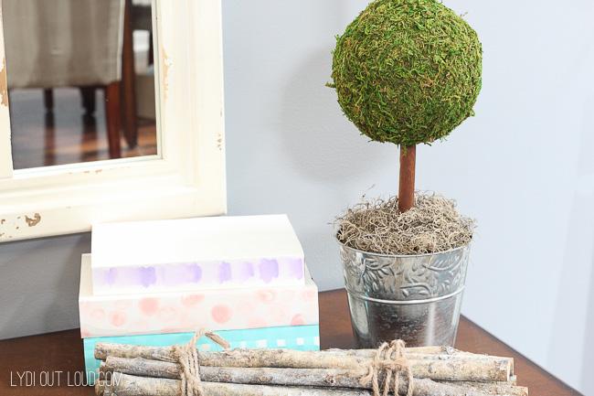 DIY Moss Topiary Tutorial