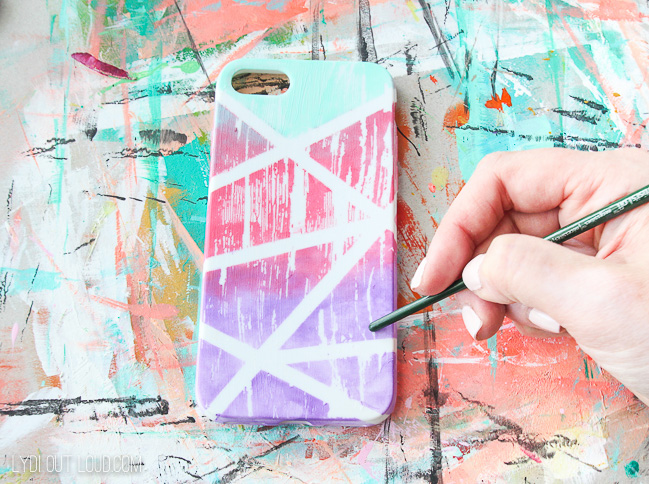Distressed Gradient Painted iPhone Case