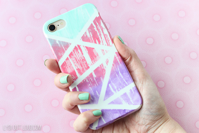 Abstract Gradiant Painted Cell Phone Case