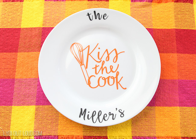 Personalized Plate Hostess Gift Idea