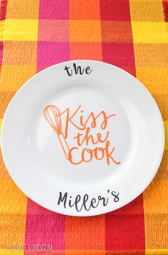 Personalized Hostess Gift Serving Plate