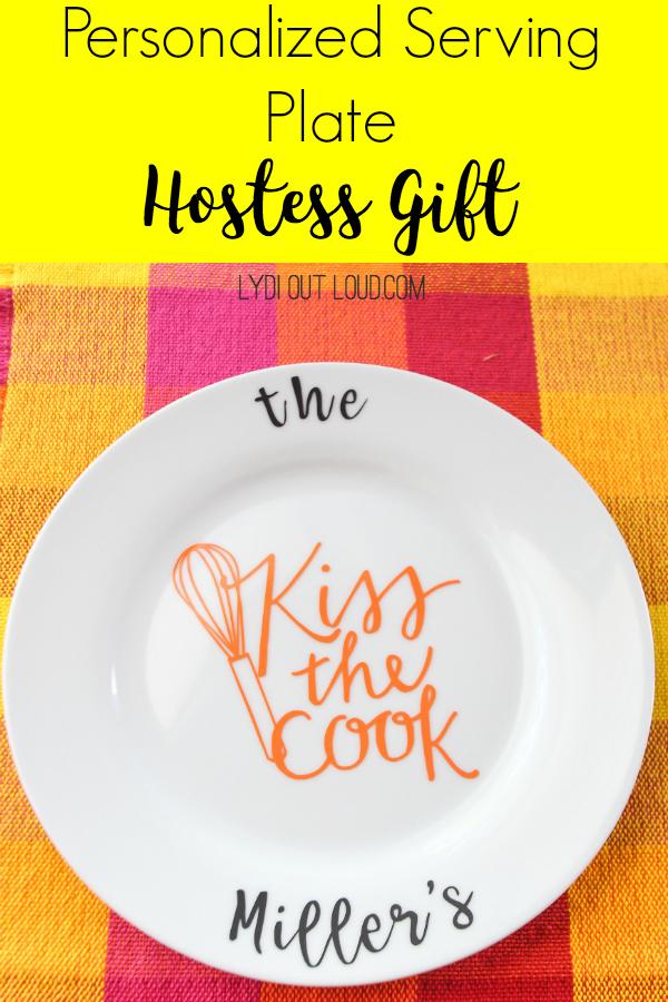 Personalized Hostess Gift Serving Platter via @lydioutloud