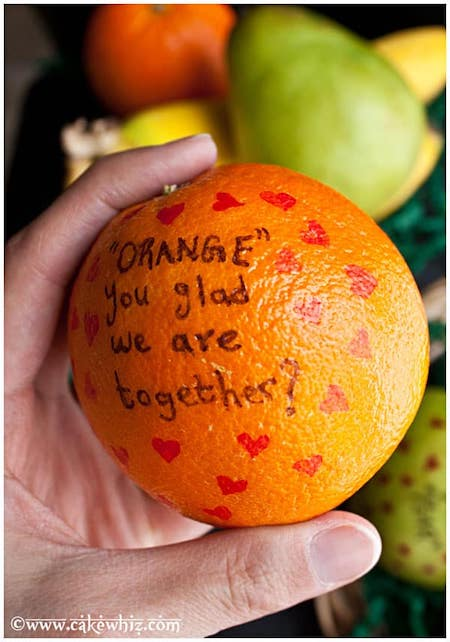 Adorable Fruit Messages 4 year anniversary gift