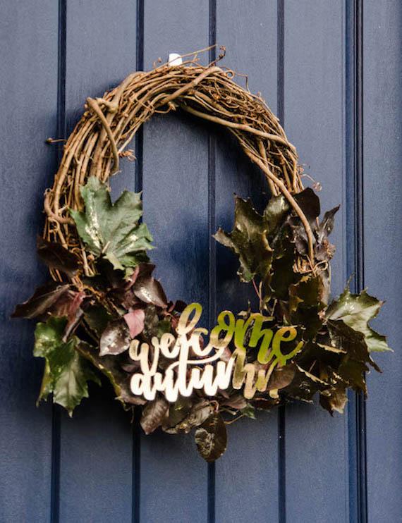 Autumn Wreath - Lemon Thistle