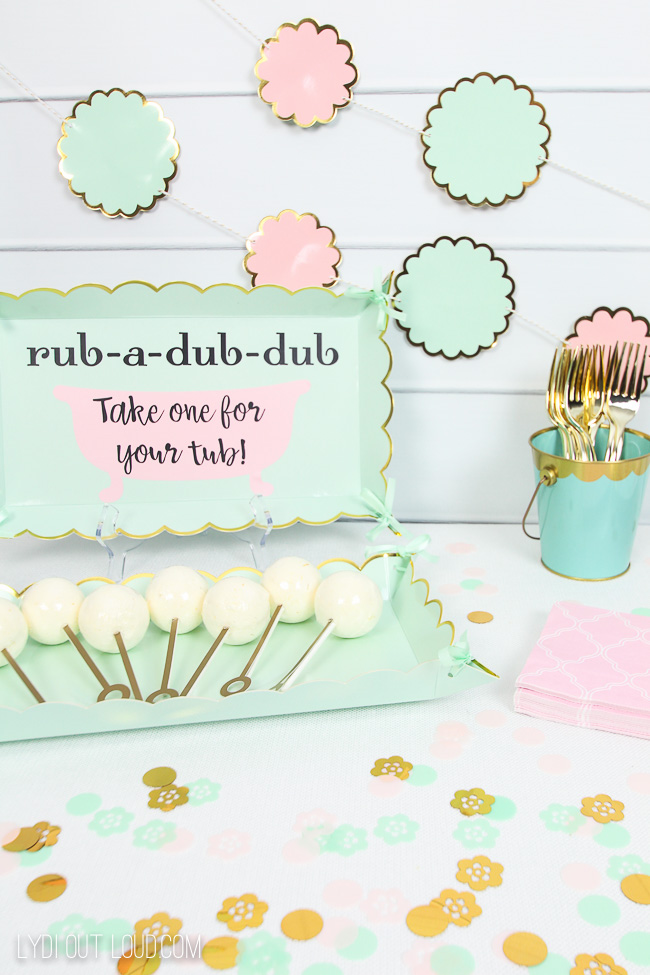 Bath Bomb Baby Shower Favors With Cricut Lydi Out Loud