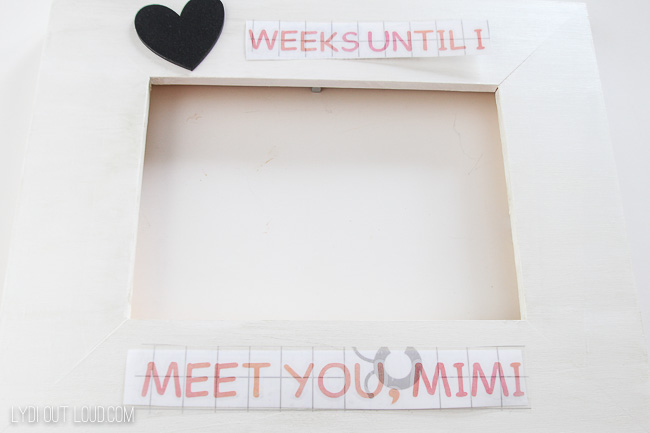 Diy Personalized Ultrasound Picture Frame With The Cricut Maker