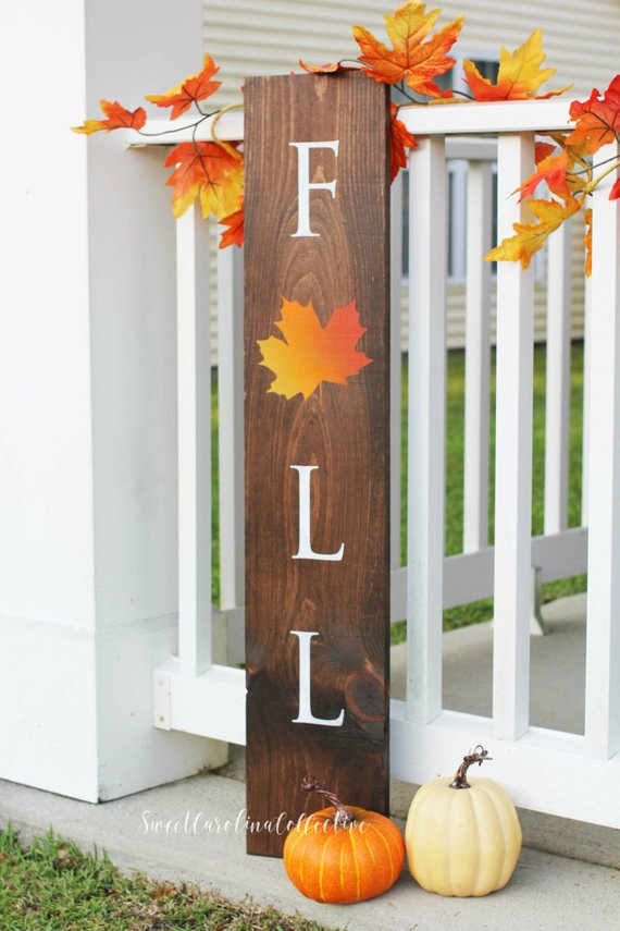 Outdoor Wood Fall Porch Sign